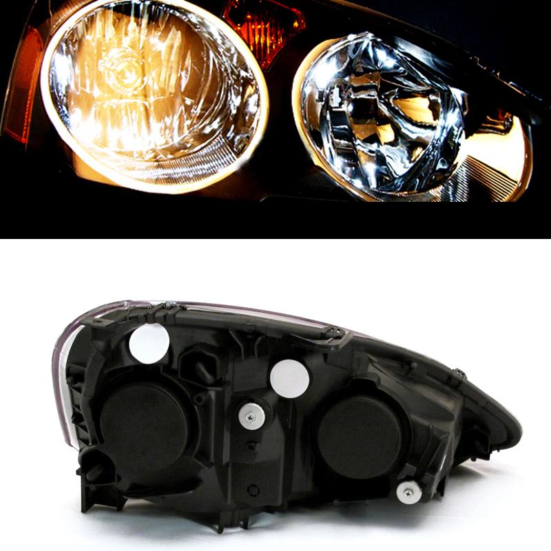 2002 2003 2004 Acura RSX Black Factory Style Headlights