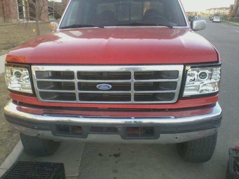 [LED Halo] 1992-1996 Ford Bronco/F150/F250/F350 Projector ...
