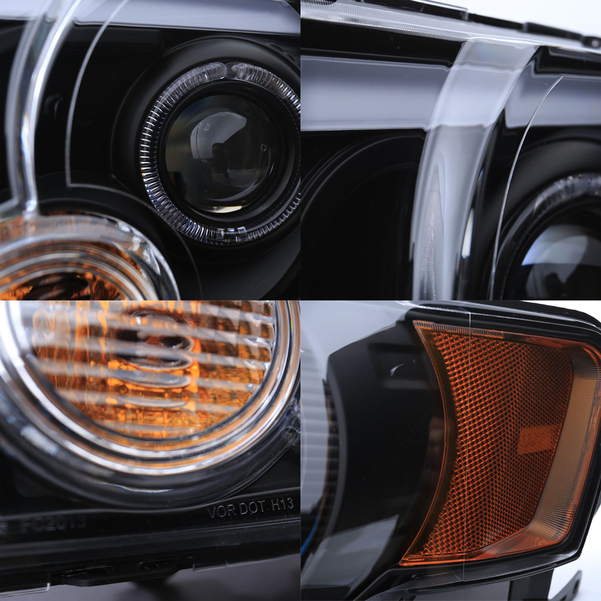 Neon Frost Drl Strip 2008 2012 Ford Escape Black Led
