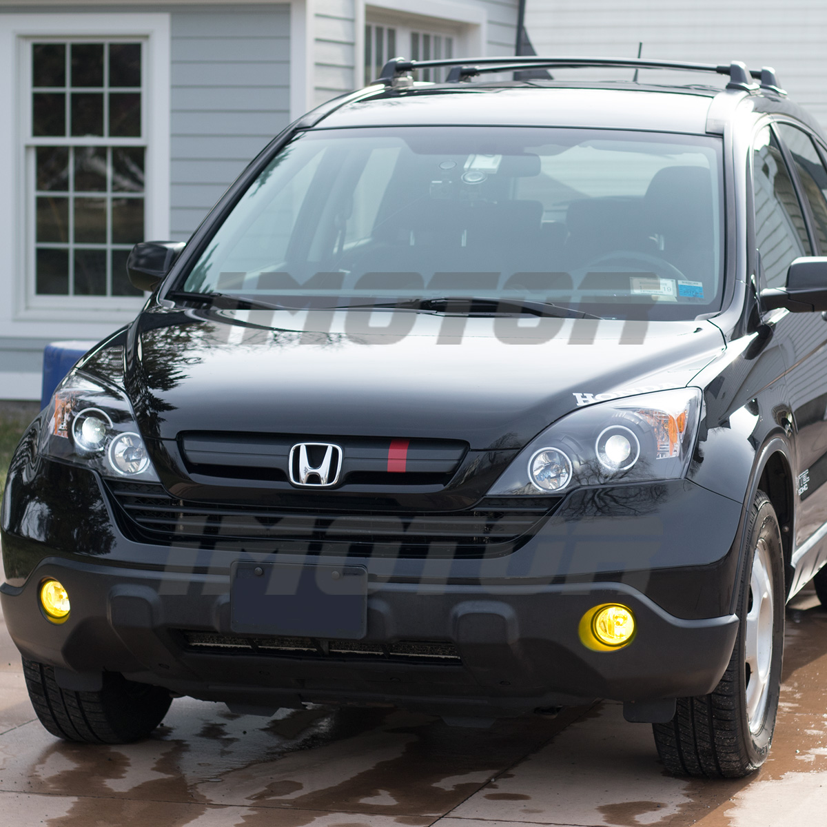 Dual Ccfl Halo 2007 2008 2009 2010 2011 Honda Crv Projector Black Headlights Ebay