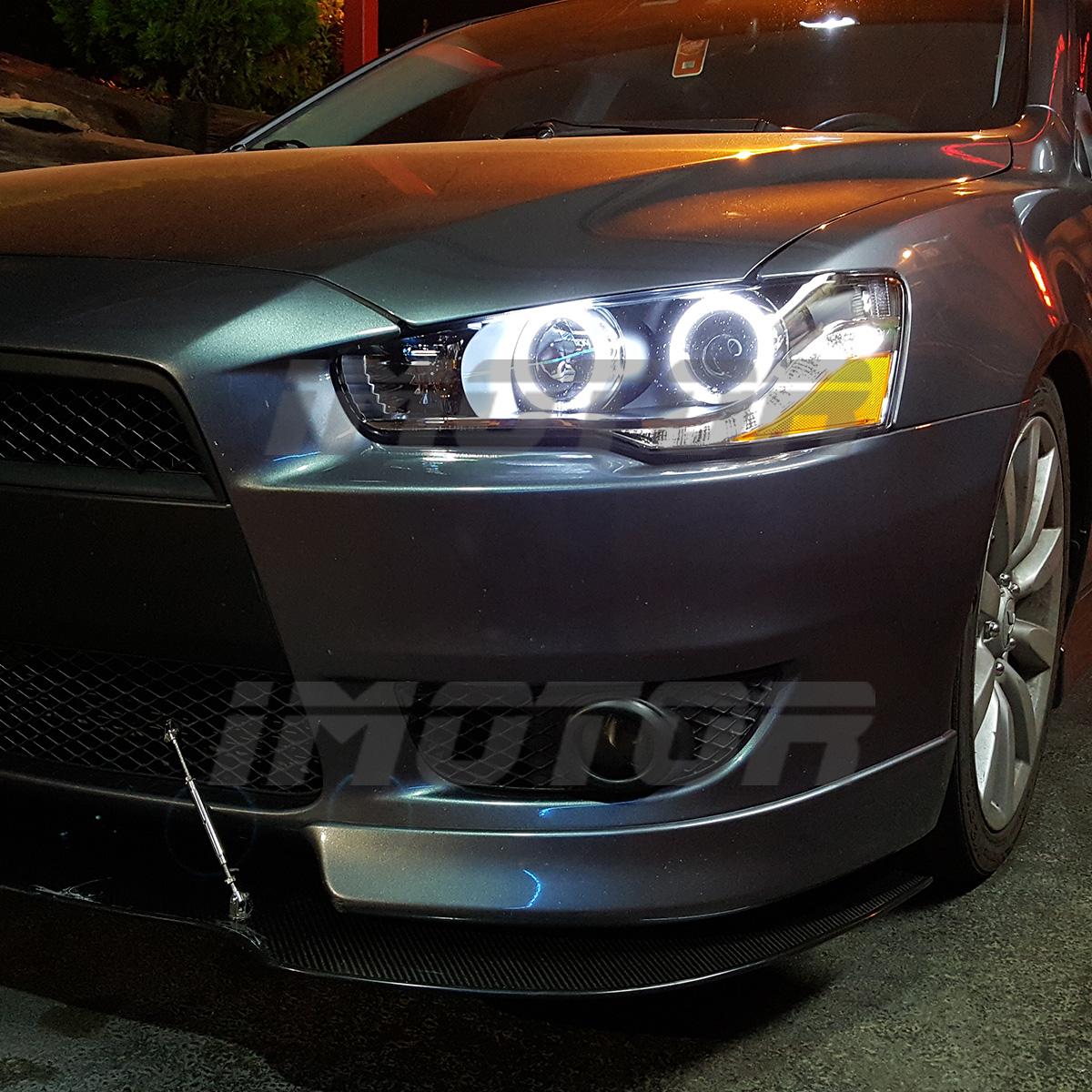 Mitsubishi Evo 2010 For Sale: [Dual CCFL Halo] 2008-2016 Mitsubishi Lancer EVO X LED DRL