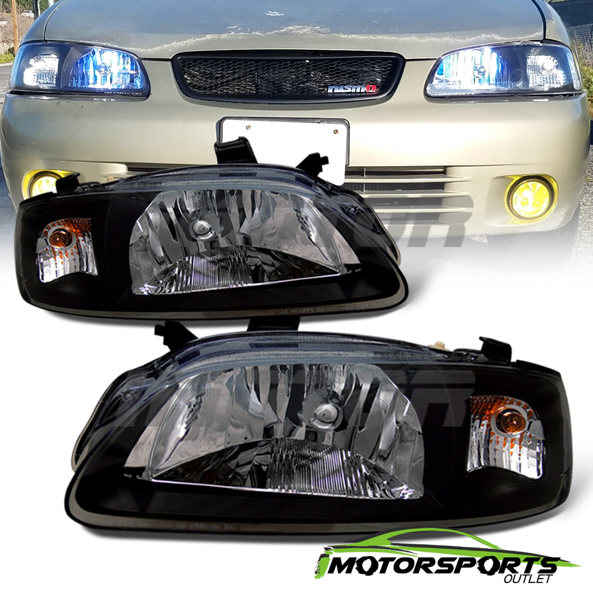 how to change the headlight on a nissan sentra 2002