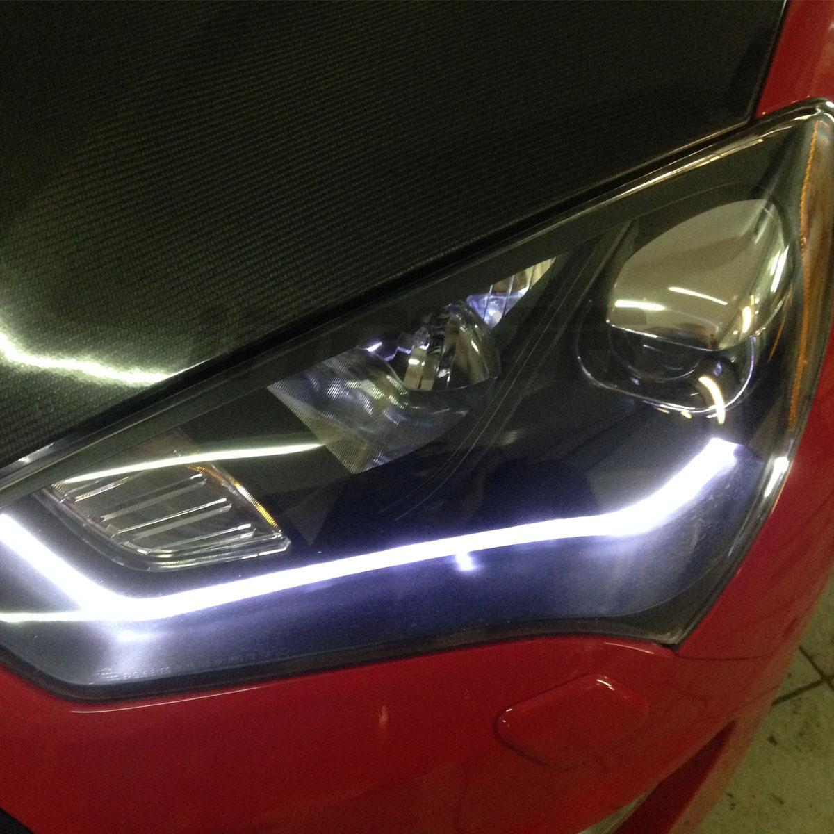 2013 Hyundai Genesis Coupe For Sale >> [HID Model+LED Bar]For 2013 2014 2015 Hyundai Genesis Coupe Black Headlights Set | eBay