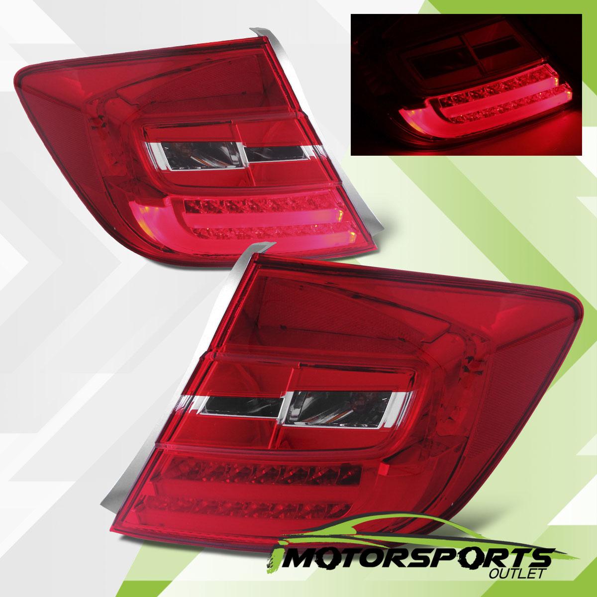 2012 Honda Civic 4dr Sedan Led Red Clear Rear Brake Tail