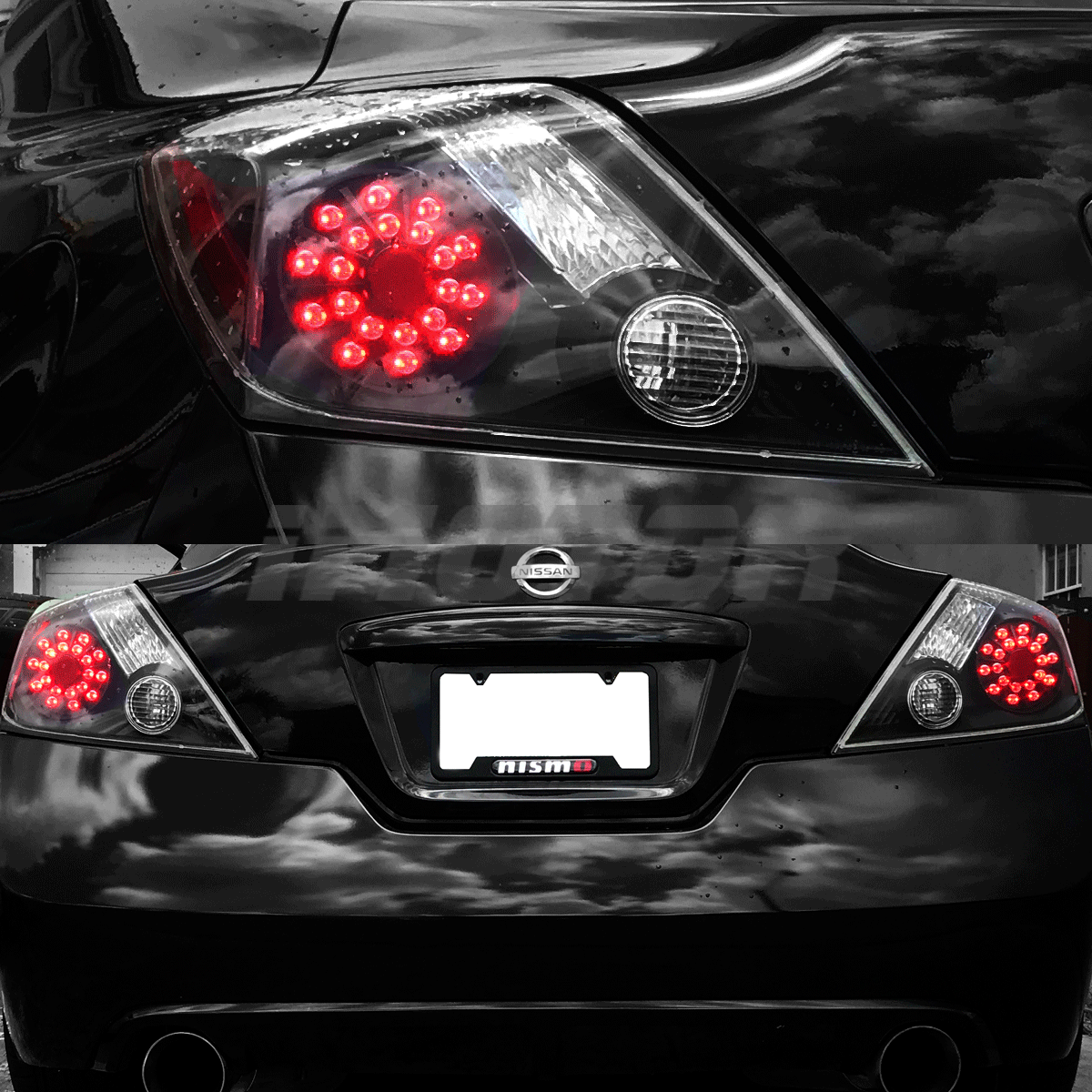 for 2008 2013 nissan altima 2dr coupe black led rear brake tail lights pair auctions buy and. Black Bedroom Furniture Sets. Home Design Ideas