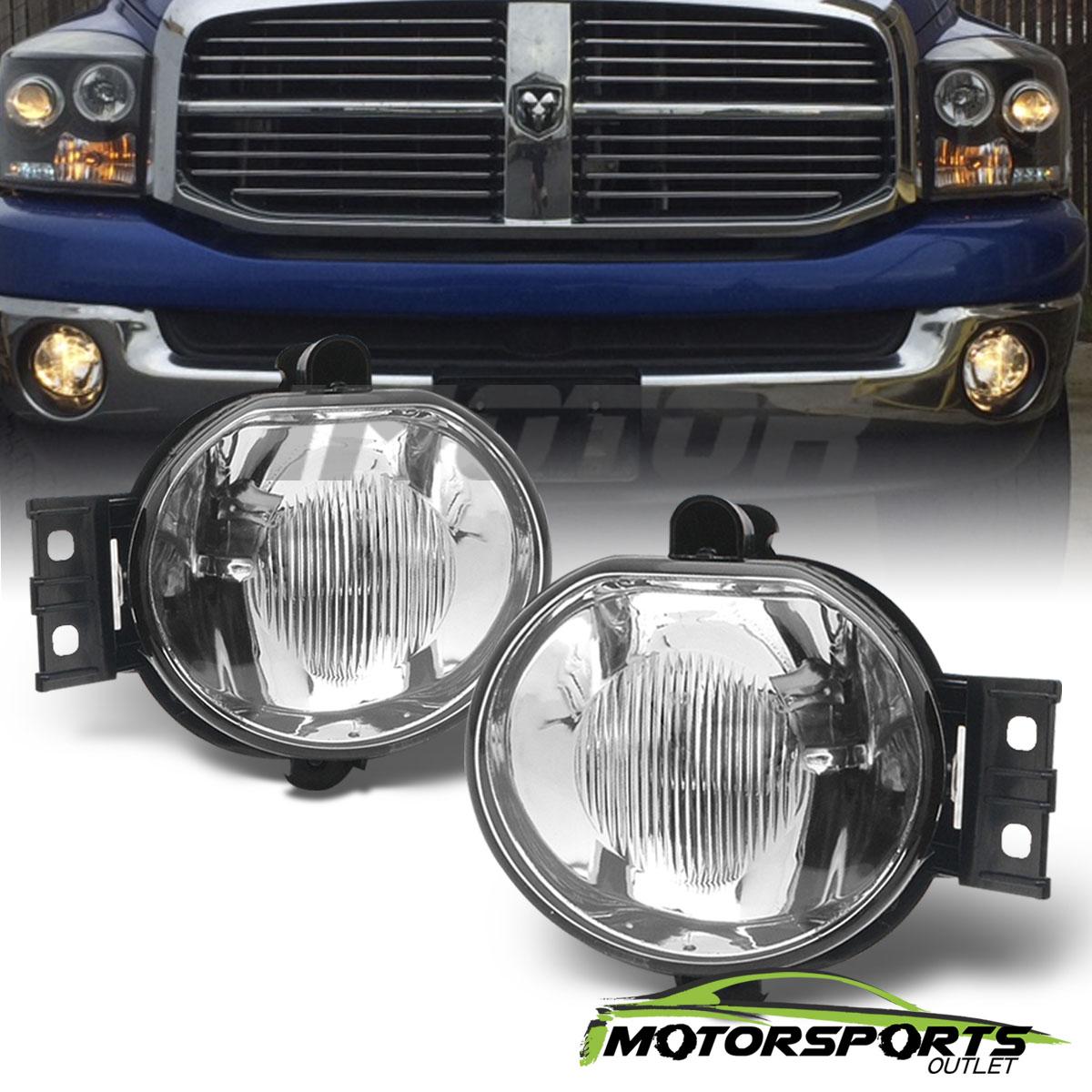 for Dodge 2003-2009 Ram 2500 for Dodge 2003-2009 Ram 3500 MAYASAF DODGE Clear Lens Fog Light Replacement Fog Lamp Set for Dodge 2002-2008 Ram 1500
