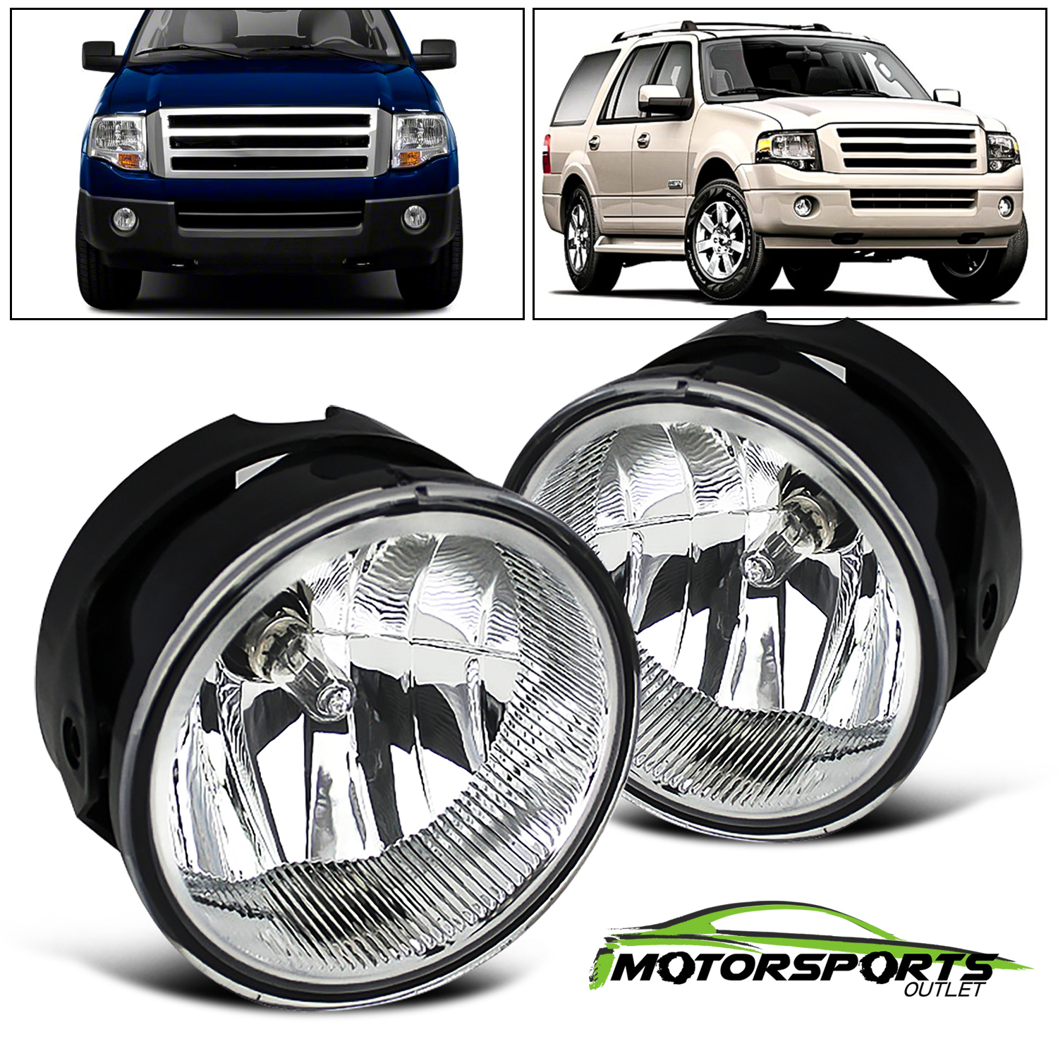 Smoked For 2007-2014 Ford Expedition 08-11 Ranger Bumper Fog Lights Left=Right