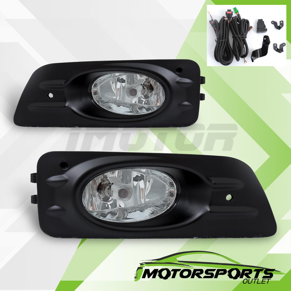 honda accord dr sedan fog lights  wiring kit toggle switch ebay
