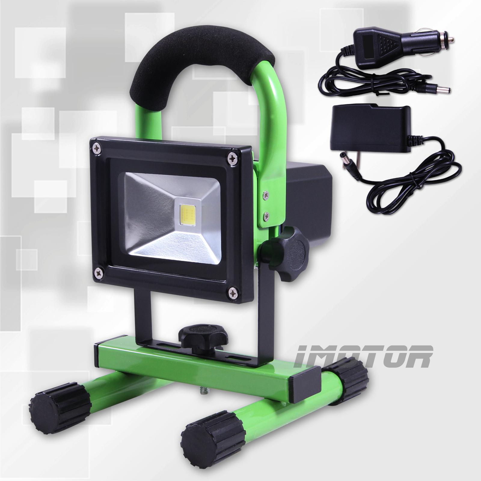 12 Watt Rechargeable Portable Led Work Light For Workshop: 10W 12V CORDLESS RECHARGEABLE LED FLOOD SPOT WORK LIGHT