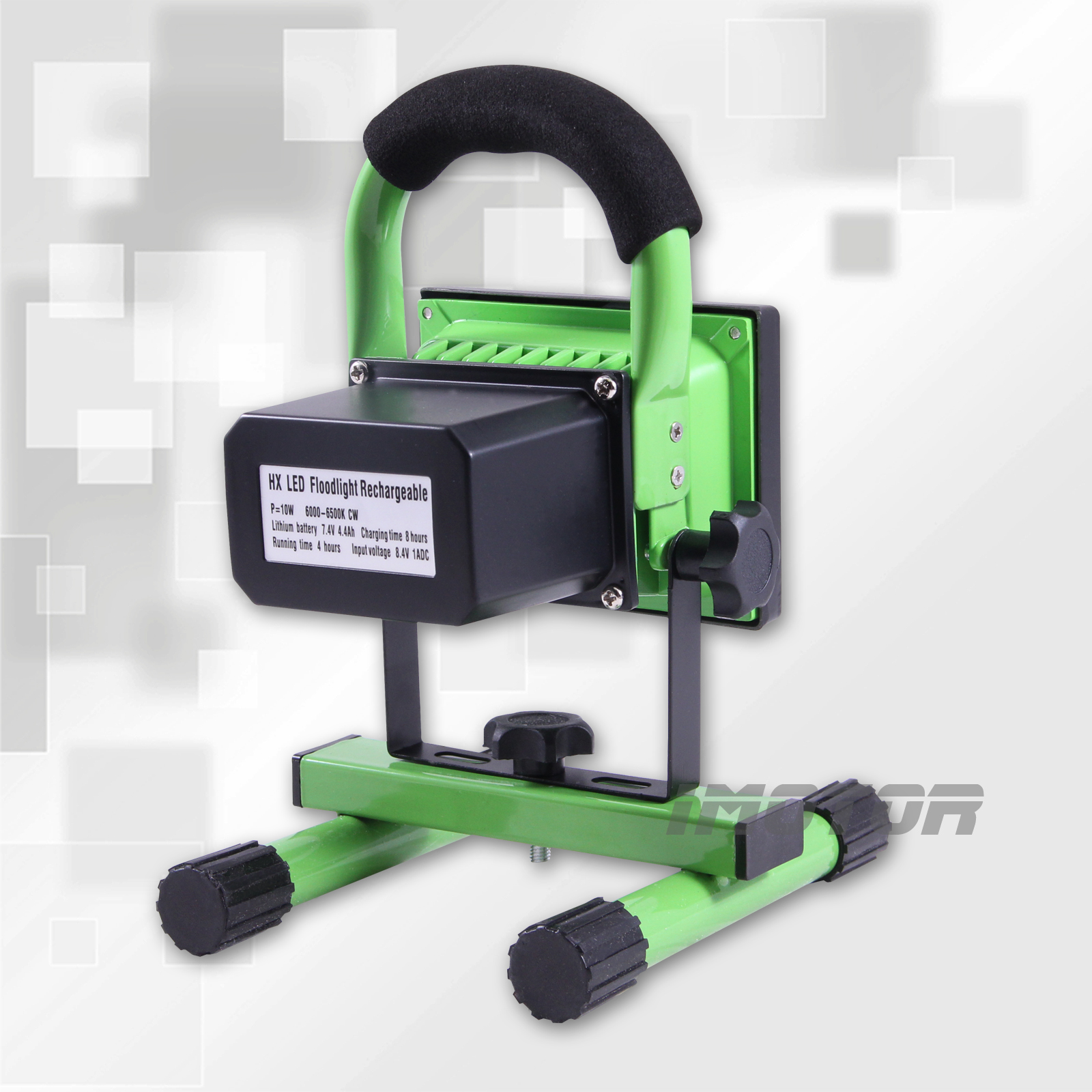 Led Rechargeable Work Light 10w For Garage: Rechargeable Cordless 10W LED Portable Outdoor Camping