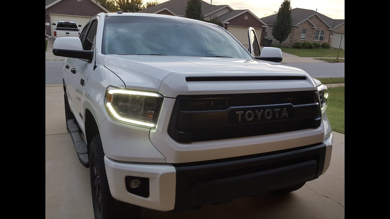 Led Strip For 2014 2018 Toyota Tundra Black Trd Truck Headlights 15 16 17 18 Ebay