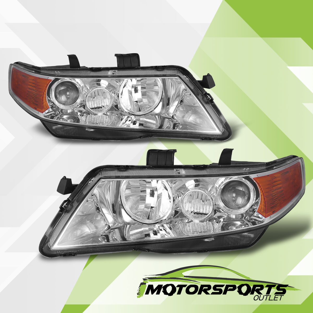 2004-2008 Acura TSX Chrome Projector Factory Style