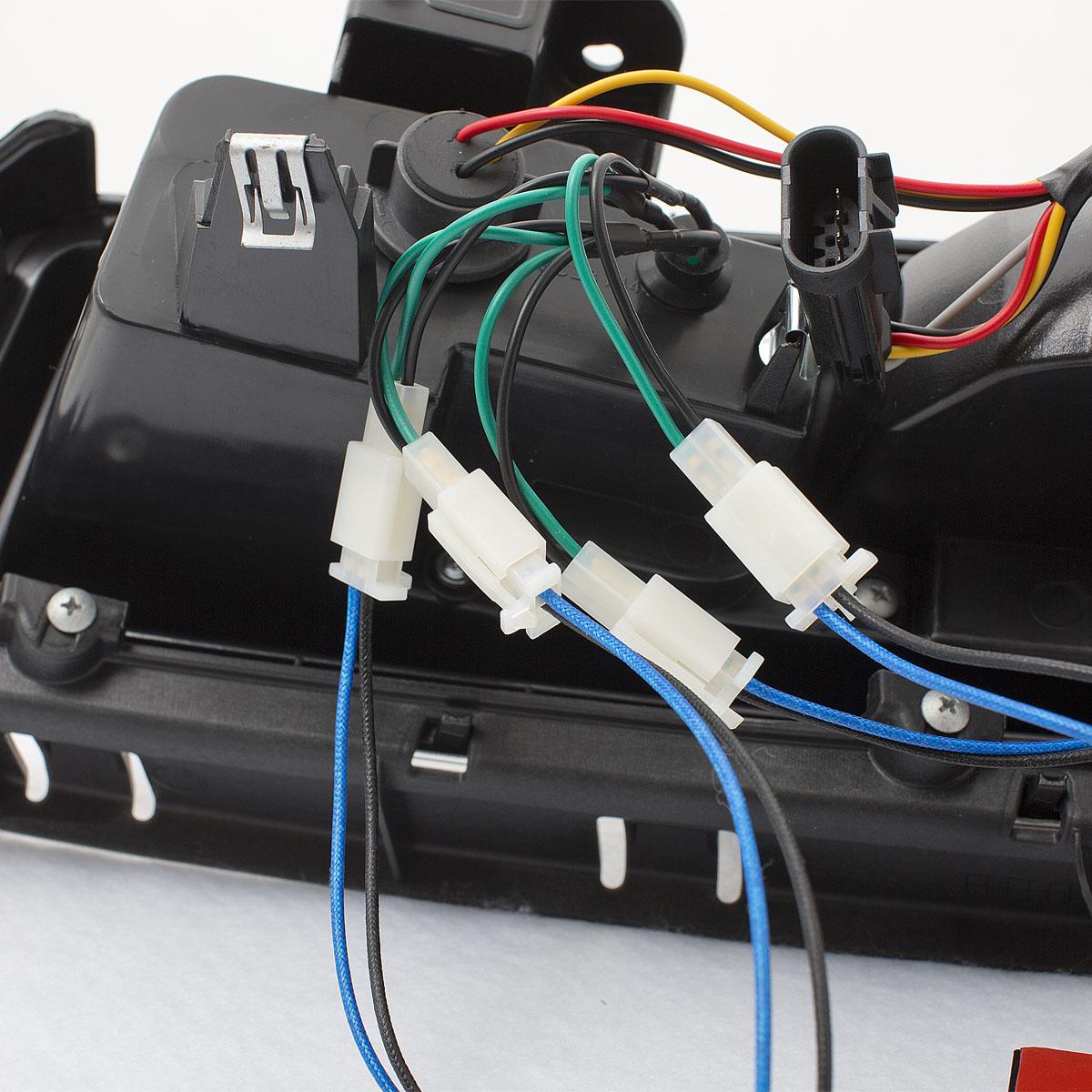 2014 2015 Chevy Camaro Led Black Rear Brake Tail Lights Lamps Pair Gmc Light Wiring Ebay