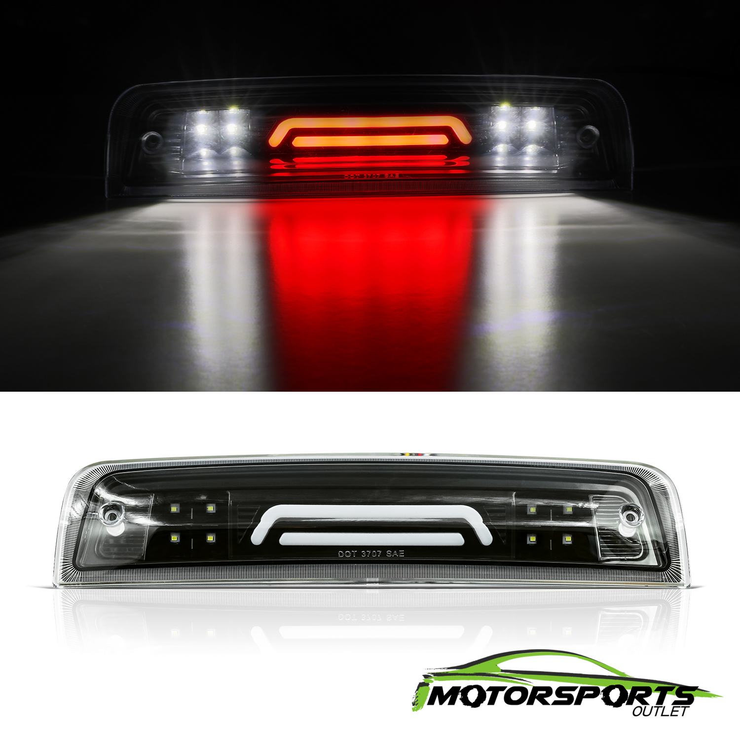 Details About For 2009 2018 Dodge Ram 3d Led Third Brake Light Cargo Lamp Replacement Black