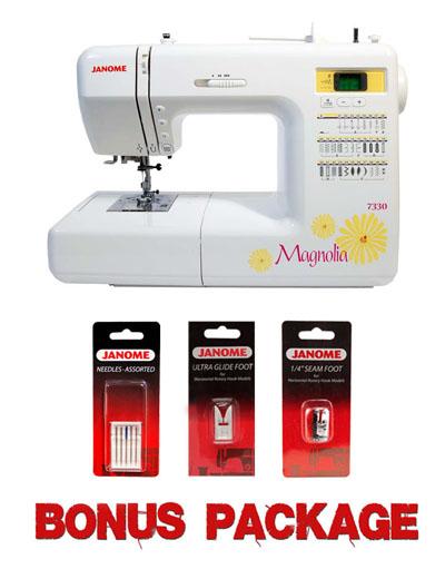 Janome Magnolia 40 Computerized Sewing Machine W Bonus Package Interesting Janome Magnolia 7330 Sewing Machine