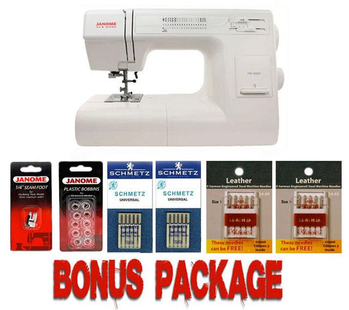 Janome HD40 Mechanical Sewing Machine Bundle W 40pc Bonus Package Impressive Janome Hd3000 Sewing Machine