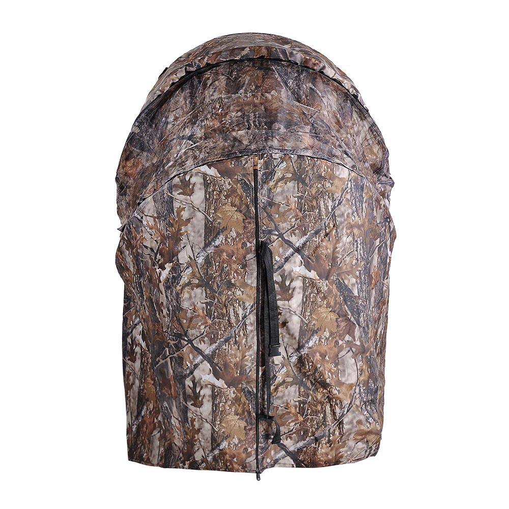 Portable-Hunting-Ground-Blind-Tent-Real-Tree-Camo-Hunt-Archery-Turkey-Deer-Duck thumbnail 29