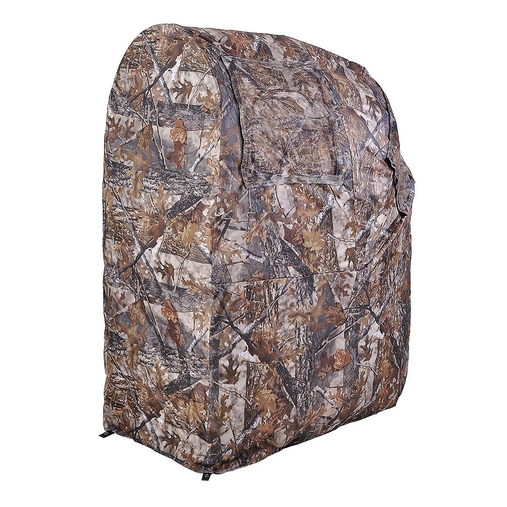Portable-Hunting-Ground-Blind-Tent-Real-Tree-Camo-Hunt-Archery-Turkey-Deer-Duck thumbnail 30