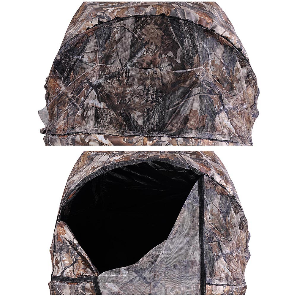 Portable-Hunting-Ground-Blind-Tent-Real-Tree-Camo-Hunt-Archery-Turkey-Deer-Duck thumbnail 32