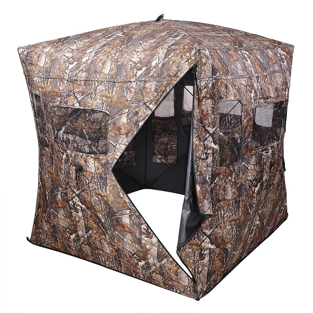 Portable-Hunting-Ground-Blind-Tent-Real-Tree-Camo-Hunt-Archery-Turkey-Deer-Duck thumbnail 20