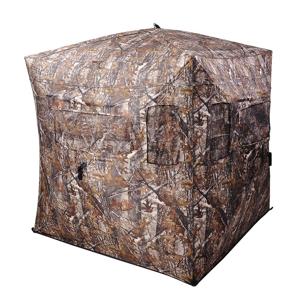 Portable-Hunting-Ground-Blind-Tent-Real-Tree-Camo-Hunt-Archery-Turkey-Deer-Duck thumbnail 21