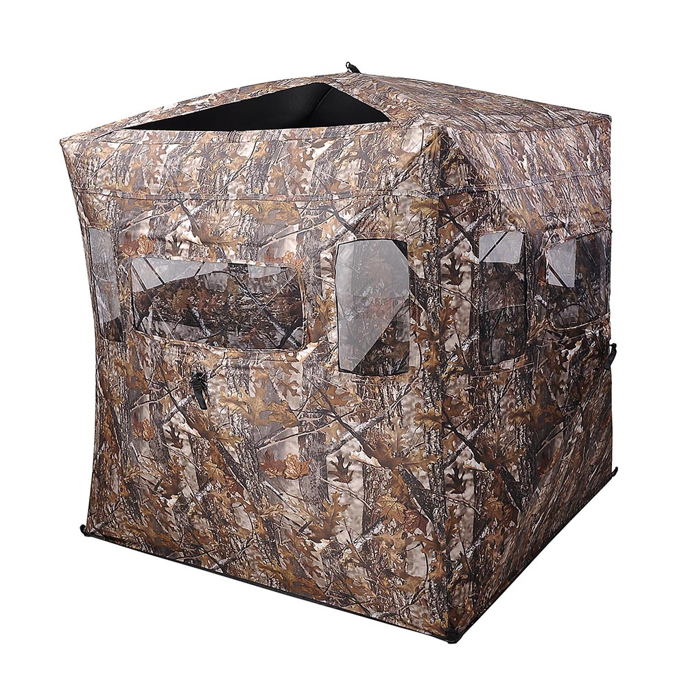 Portable-Hunting-Ground-Blind-Tent-Real-Tree-Camo-Hunt-Archery-Turkey-Deer-Duck thumbnail 22