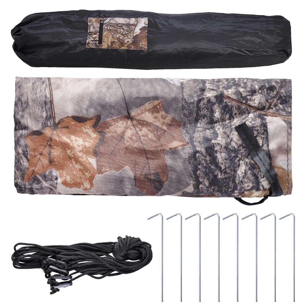 Portable-Hunting-Ground-Blind-Tent-Real-Tree-Camo-Hunt-Archery-Turkey-Deer-Duck thumbnail 25