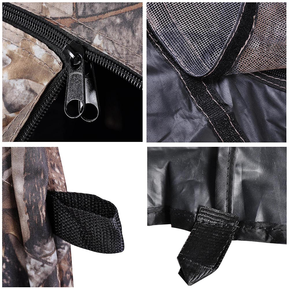 Portable-Hunting-Ground-Blind-Tent-Real-Tree-Camo-Hunt-Archery-Turkey-Deer-Duck thumbnail 14