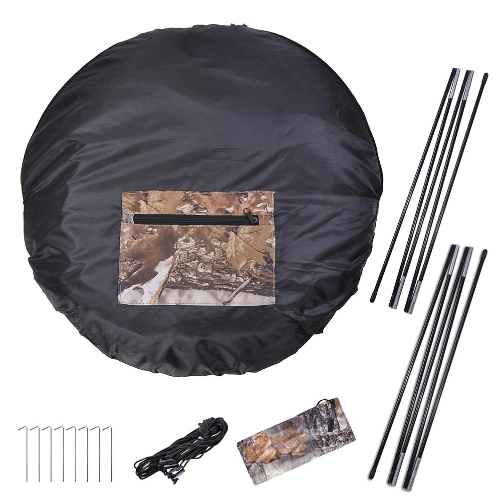 Portable-Hunting-Ground-Blind-Tent-Real-Tree-Camo-Hunt-Archery-Turkey-Deer-Duck thumbnail 16