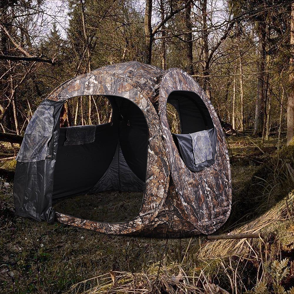hunting altan and blinds watch s ground setup pop up use