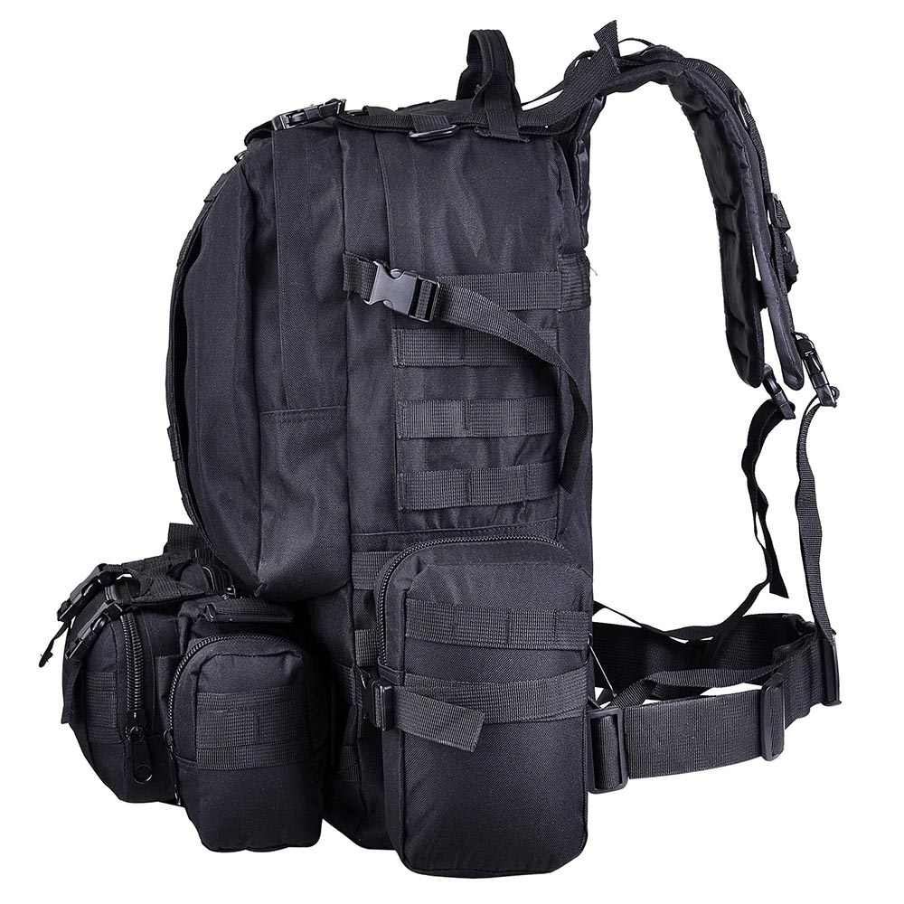 55L-Outdoor-Military-Molle-Tactical-Backpack-Rucksack-Camping-Bag-Travel-Hiking thumbnail 3