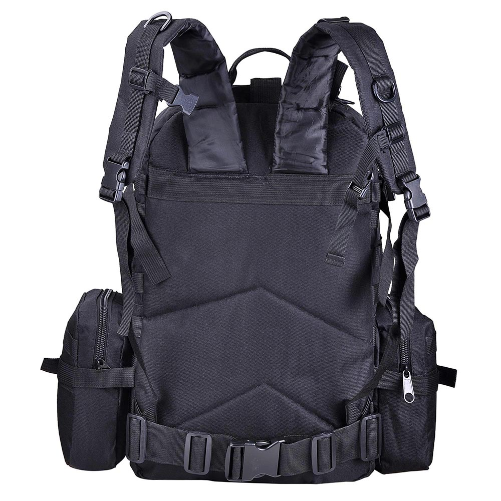 55L-Outdoor-Military-Molle-Tactical-Backpack-Rucksack-Camping-Bag-Travel-Hiking thumbnail 4