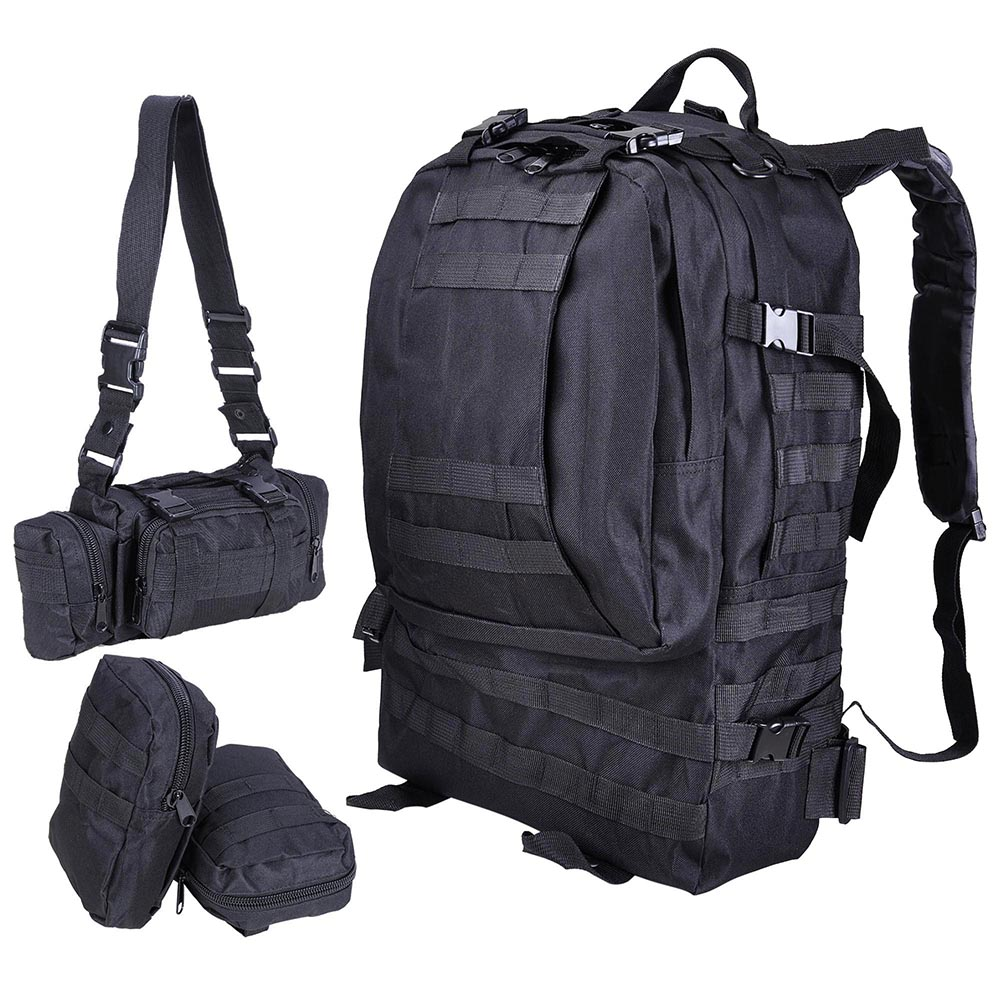 55L-Outdoor-Military-Molle-Tactical-Backpack-Rucksack-Camping-Bag-Travel-Hiking thumbnail 5