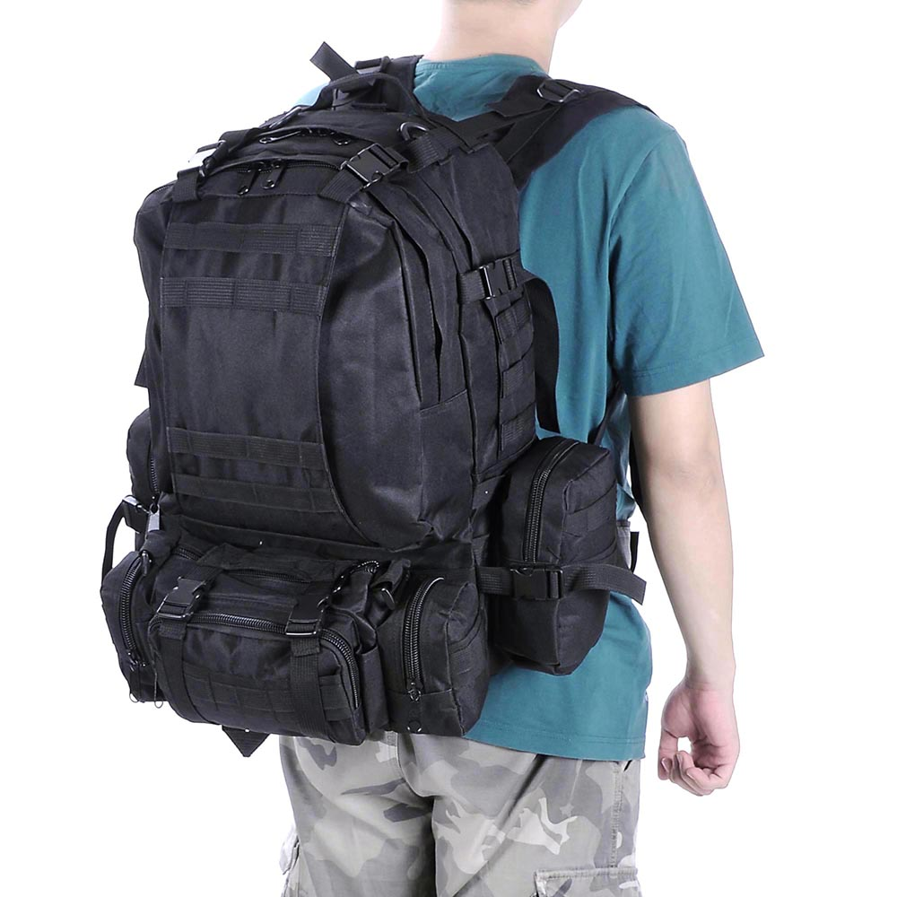 55L-Outdoor-Military-Molle-Tactical-Backpack-Rucksack-Camping-Bag-Travel-Hiking thumbnail 9