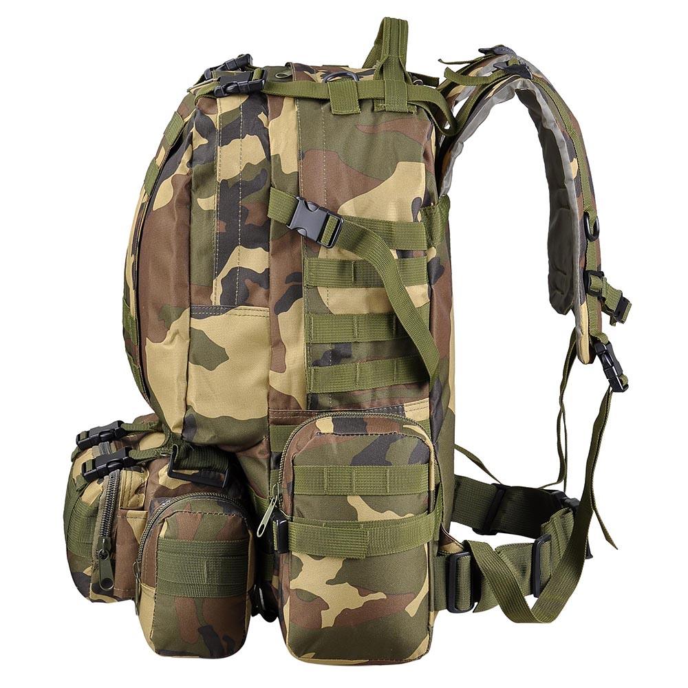 de154fafa214 55L Backpack Molle Sport Military Tactical Bag Camping Hiking ...