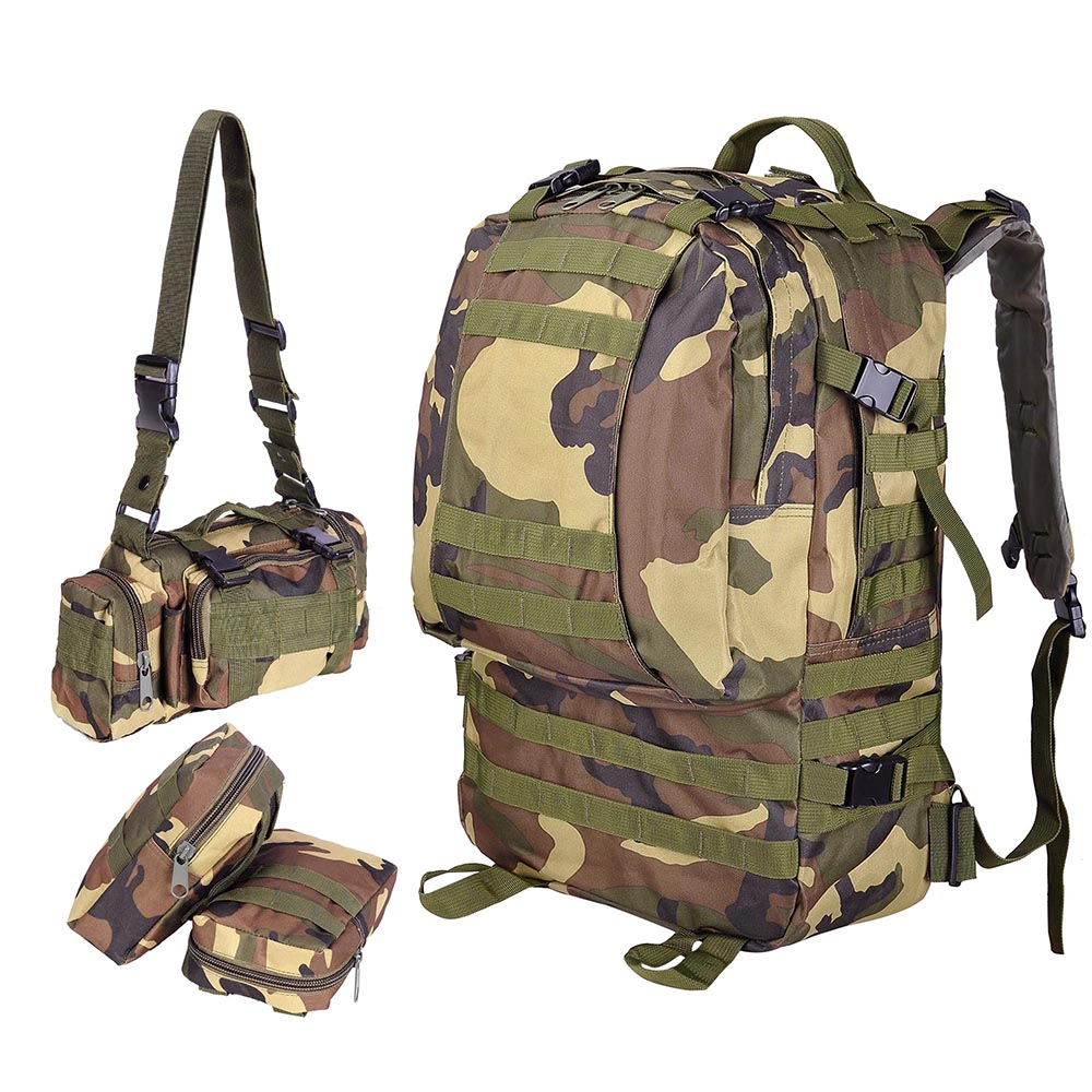 55L-Outdoor-Military-Molle-Tactical-Backpack-Rucksack-Camping-Bag-Travel-Hiking thumbnail 45