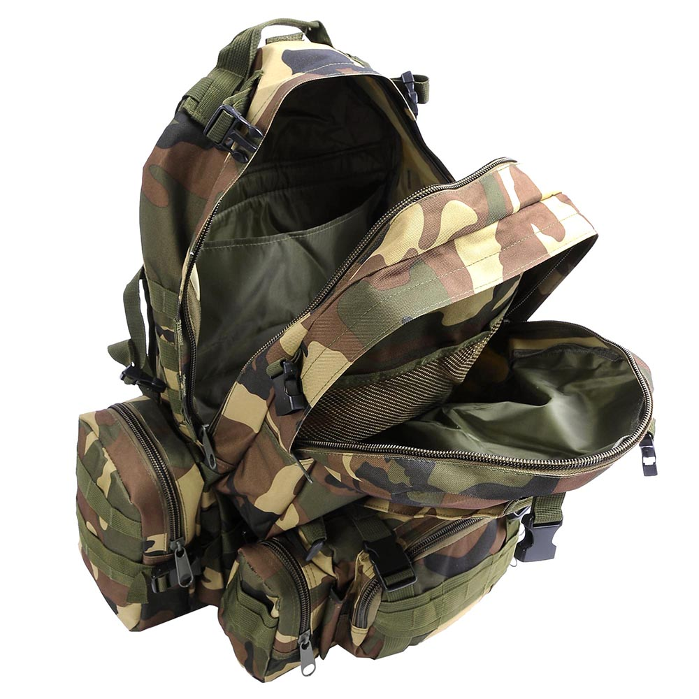 55L-Outdoor-Military-Molle-Tactical-Backpack-Rucksack-Camping-Bag-Travel-Hiking thumbnail 46