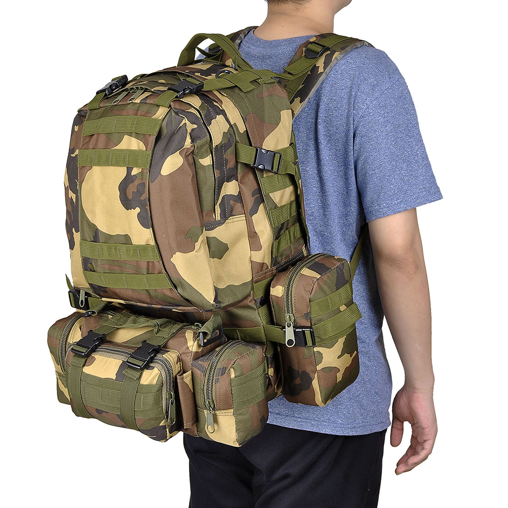c78b9c534146 55L Backpack Molle Sport Military Tactical Bag Camping Hiking Trekking  Rucksack Unique Christmas Gifts