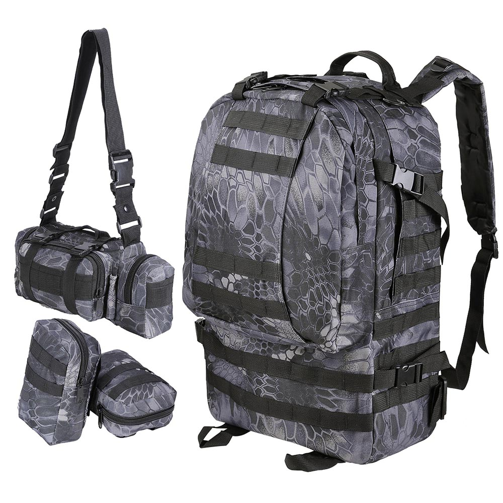 55L-Outdoor-Military-Molle-Tactical-Backpack-Rucksack-Camping-Bag-Travel-Hiking thumbnail 13