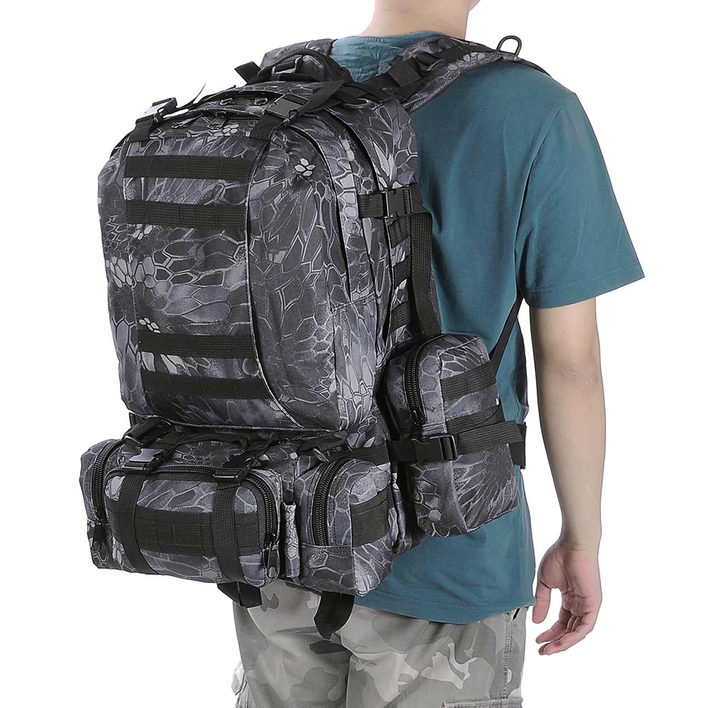 55L-Outdoor-Military-Molle-Tactical-Backpack-Rucksack-Camping-Bag-Travel-Hiking thumbnail 17