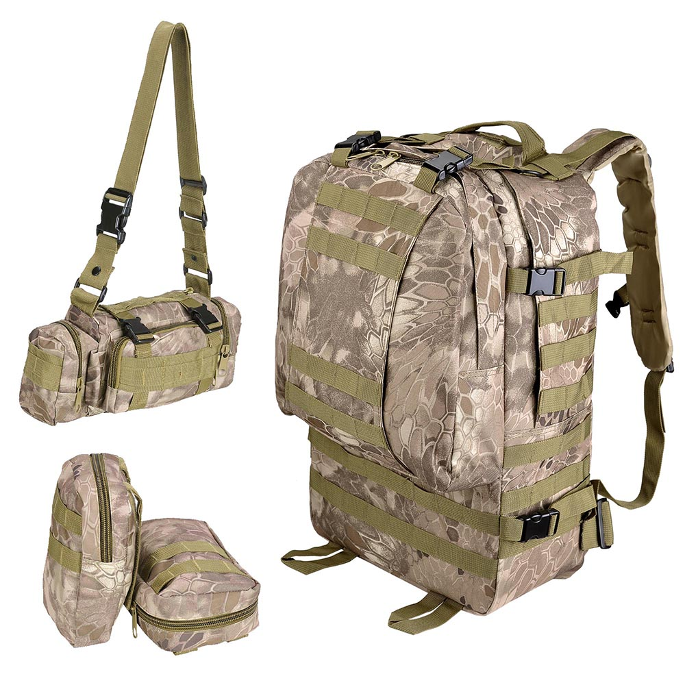 55L-Outdoor-Military-Molle-Tactical-Backpack-Rucksack-Camping-Bag-Travel-Hiking thumbnail 37