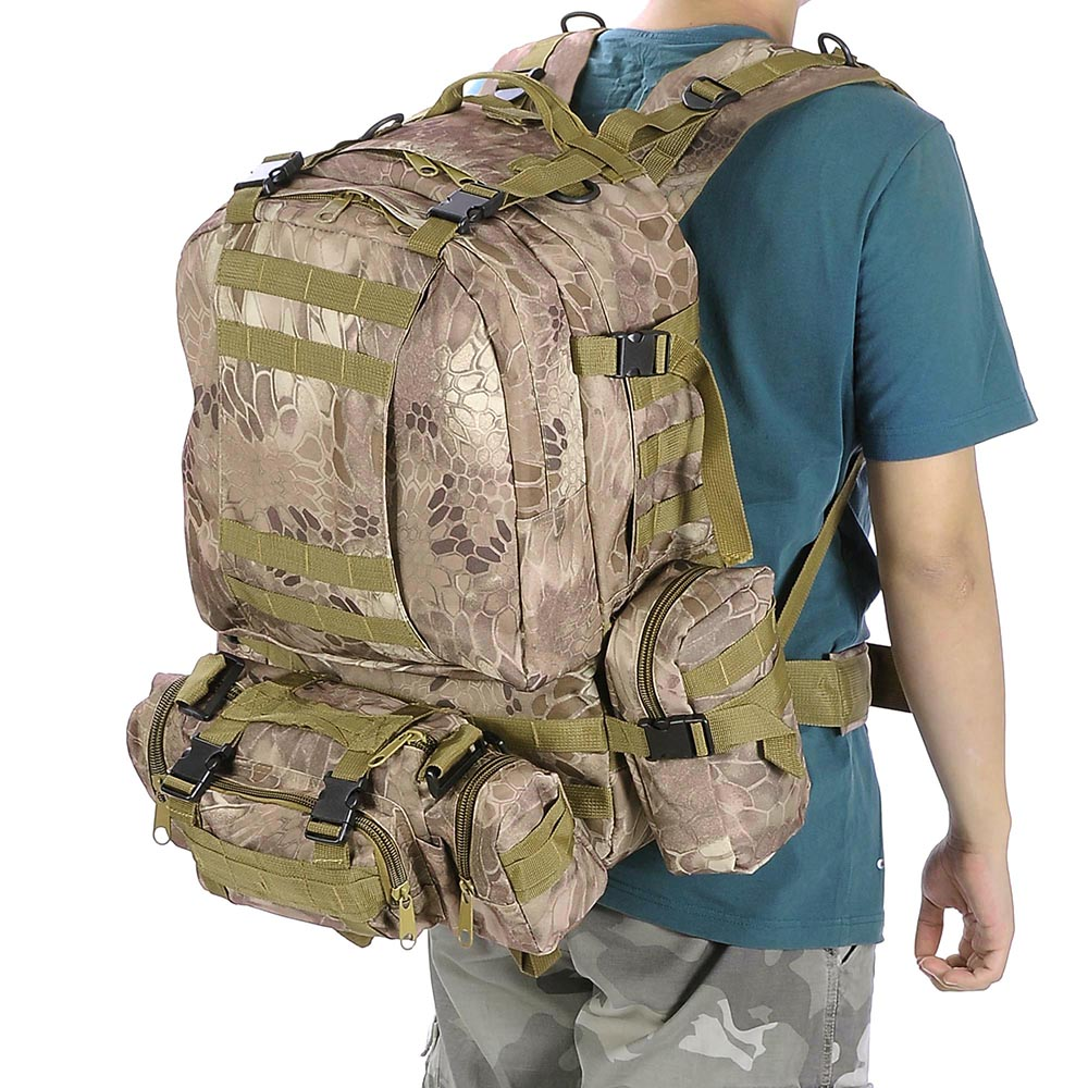 55L-Outdoor-Military-Molle-Tactical-Backpack-Rucksack-Camping-Bag-Travel-Hiking thumbnail 41