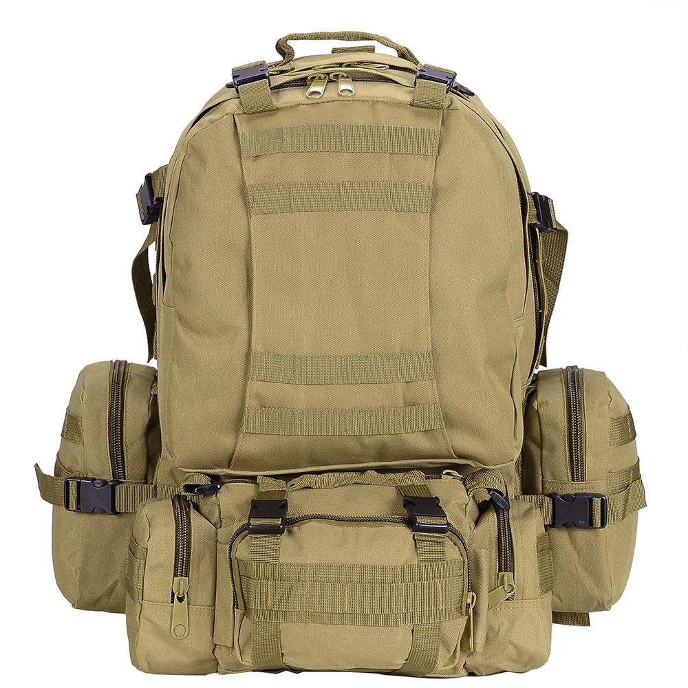 55L-Outdoor-Military-Molle-Tactical-Backpack-Rucksack-Camping-Bag-Travel-Hiking thumbnail 27