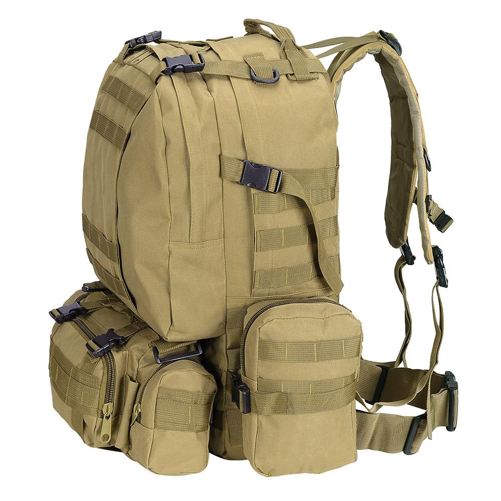 581203694b09 55L Outdoor Military Molle Tactical Backpack Rucksack Camping Bag ...