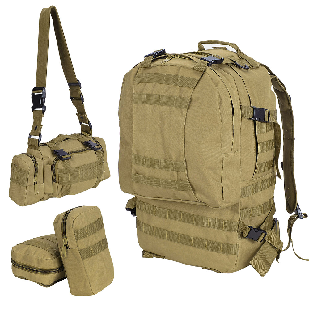 55L-Outdoor-Military-Molle-Tactical-Backpack-Rucksack-Camping-Bag-Travel-Hiking thumbnail 29
