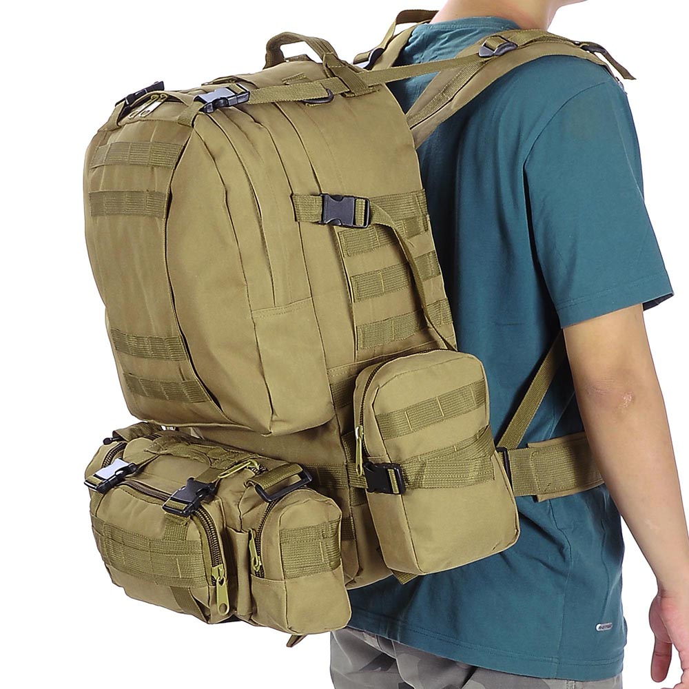 55L-Outdoor-Military-Molle-Tactical-Backpack-Rucksack-Camping-Bag-Travel-Hiking thumbnail 33