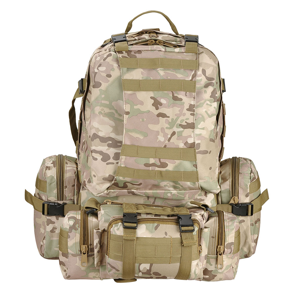 55L-Outdoor-Military-Molle-Tactical-Backpack-Rucksack-Camping-Bag-Travel-Hiking thumbnail 19