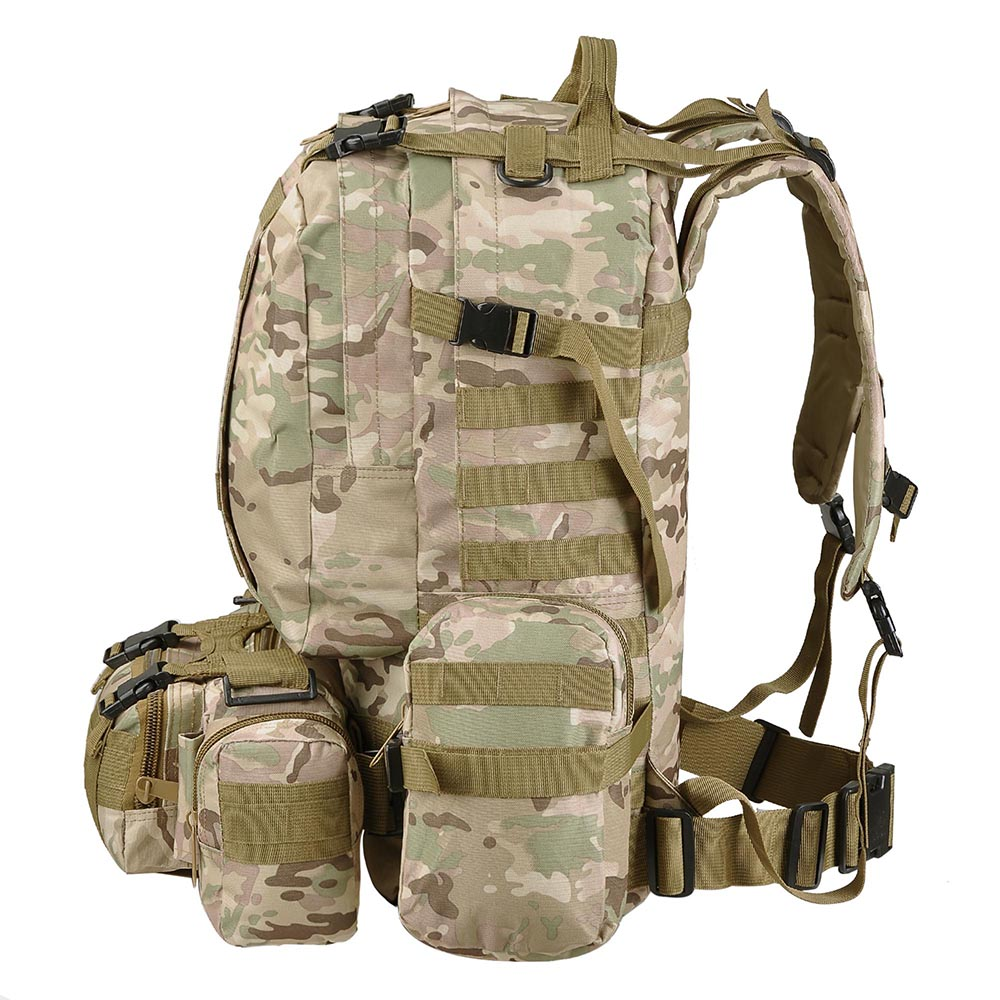 55L-Outdoor-Military-Molle-Tactical-Backpack-Rucksack-Camping-Bag-Travel-Hiking thumbnail 20