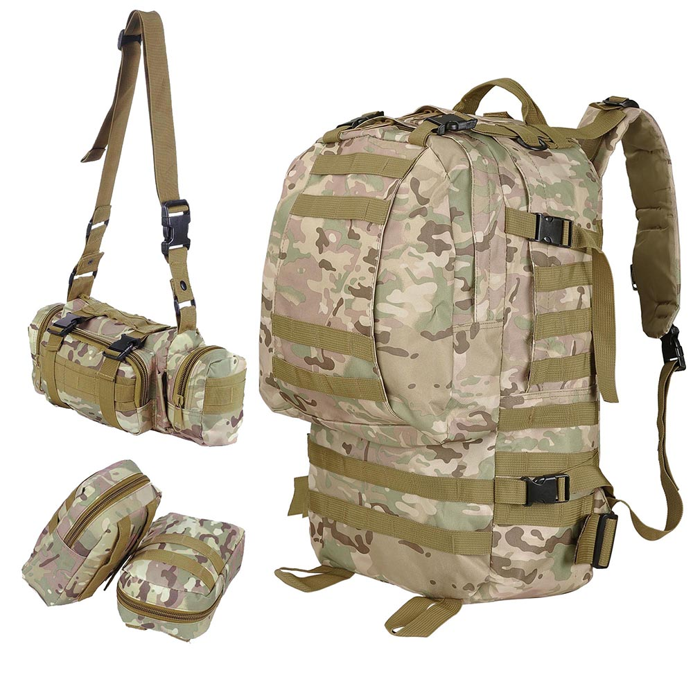 55L-Outdoor-Military-Molle-Tactical-Backpack-Rucksack-Camping-Bag-Travel-Hiking thumbnail 21