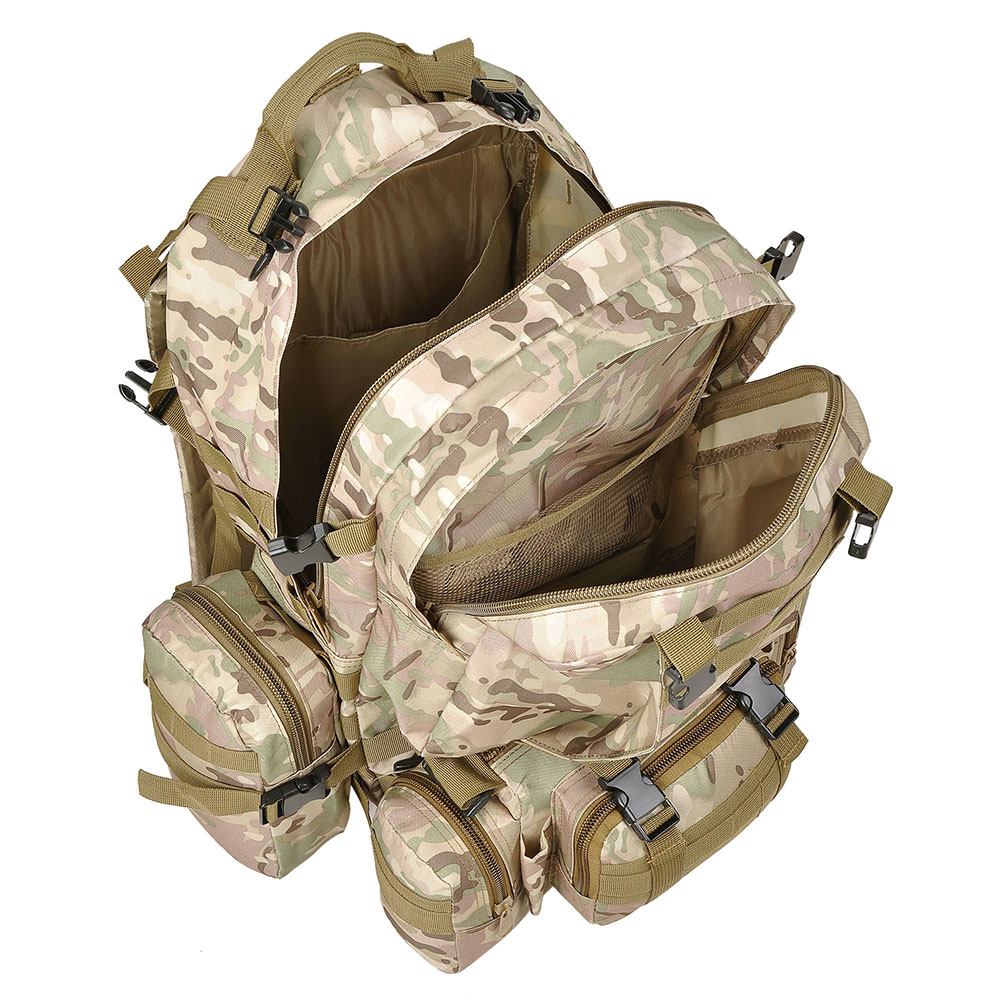 55L-Outdoor-Military-Molle-Tactical-Backpack-Rucksack-Camping-Bag-Travel-Hiking thumbnail 22